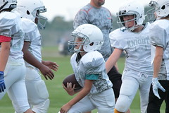 _G1A6482 (bubbaonthenet) Tags: 08232018 practice 6 stma community education 6th grade youth tackle football team 1 white saint michael minnesota 2018 middle school sport sports