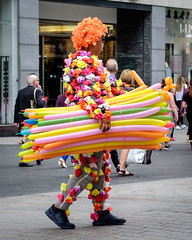 Balloon Seller. (James- Burke) Tags: liverpoolone baloonseller liverpool candid merseyside street