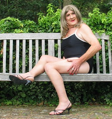 Carlablaswmbnch-003 (fionaxxcd) Tags: transvestite trannie tranny m2f mtf crossdresser swimsuit stilettos bust longblondehair rednails thighs