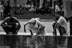 Ablution (karmajigme) Tags: ablution religious jamamasjid delhi india travel monochrome noiretblanc blackandwhite water people nikon