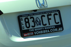 Queensland personalized plate (CooverInAus) Tags: collingwood afl aussie rules mighty magpies queensland number license registration plate