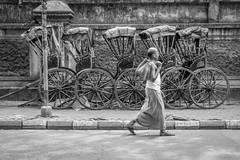 Kolkata, India (gstads) Tags: kolkata calcutta bengal bengali westbengal india indian street streetscene streetphotography rickshaw rickshaws blackandwhite bw monochrome noiretblanc