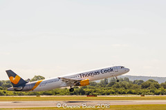 Thomas Cook G-TCDY A321-200 (IMG_8474) (Cameron Burns) Tags: thomascook mt gtcdy airbus airbus321 airbus321200 tfs tenerifesouth tenerife spain spanish canaryislanders canaries grey yellow white manchester airport manchesterairport man egcc ringway viewing park airfield aviation aerospace airliner aeroplane aircraft airplane plane canoneos550d canoneos eos550d canon550d canon eos 550d uk united kingdom unitedkingdom gb greatbritain great britain europe action