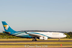 Oman Air A4O-DA A330-200 (IMG_8990) (Cameron Burns) Tags: omanair a4oda airbus airbus330 airbus330200 airbus332 a330 a330200 a332 mct muscat uae middleeast white green blue gold manchester airport manchesterairport man egcc ringway viewing park airfield aviation aerospace airliner aeroplane aircraft airplane plane canoneos550d canoneos eos550d canon550d canon eos 550d uk united kingdom unitedkingdom gb greatbritain great britain europe action