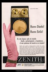 Zenith Royal Modelo 500-E, pocket transistor radio adverstising in Spanish Popular Mechanics magazine, November 1959. Advertising colored by myself since the original is in black and white. (José Gustavo Sánchez González) Tags: josegustavo gustavo transistorradio transistor advertising accessoriesmiscellaneous méxico royal 500e zenith popular mechanics magazine mecánica colored