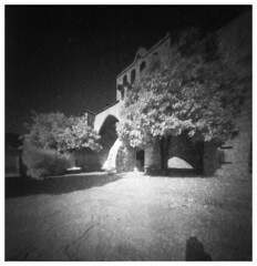 Thick walls (Mark Dries) Tags: markguitarphoto markdries pinhole piglet rollei infrared expired 720nm film filmphotography 6x6 mediumformat cyprus