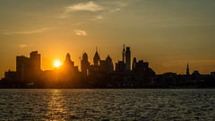 Final Summer Sundown (PhillymanPete) Tags: camdenwaterfront urban skyline sunset river delawareriver water sky city cityscape philly philadelphia clouds camden newjersey unitedstates us nikon d800e silhouette
