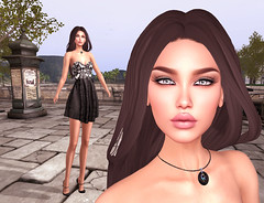 LuceMia - The Darkness Monthly Event (2018 SAFAS AWARD WINNER - Favorite Blogger -) Tags: thedarknessmonthlyevent event dress dm exclusive sofia jewelry dckm moon dark dragon necklace eyes montreal eyeshadow danna poema poses posesion set estrella sl secondlife mesh fashion creations blog beauty hud colors models lucemia
