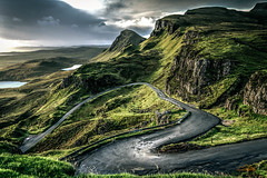 Single Track Road to the Quiraing Parking Lot II