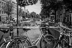 Amsterdam (ericbeaume) Tags: nikon d5500 sigma bw blackwhite nb noirblanc noiretblanc town city bicycle water amsterdam netherlands hollande paysbas buildings travel boats ericbeaume