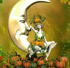 On This Harvest Moon (~* Pretty* ~) Tags: fall fantasy vitas boudoir second life doll coco