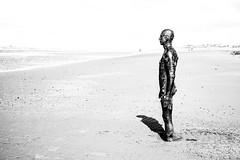 Alone with my Shadow (Stuart.67) Tags: abstract blackwhite mono iron man antony gormley another place crosby art installation shadow nikon d800 coast beach