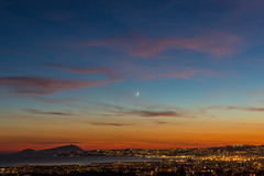 moon.slice@napoli.gulf.it (Rinaldofr) Tags: canon6dmkii canon24105f4ismkii moon napoli gulf sky lights clouds