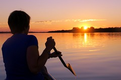 Equinox Paddle (deanspic) Tags: summer fall equinox autumnalequinox sun paddle paddling canoe canoeing profile silhouette g3x lakestlawrence stlawreneceriver river longsault ontario calm calmwater serene