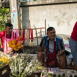 Flower sellers, Sunday morning market, Chiang Mai thumbnail