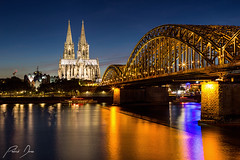 Cologne (patrickdunse) Tags: 50mm 6d blau blauestunde blue bluehour bridge brücke buildings canon canon6d canonef50mmf18ii canoneos6d cathedral church city cologne colognecathedral deutschland dom eos festbrennweite fluss gebäude germany hohenzollernbridge hohenzollernbrücke kathedrale kirche köln kölnerdom langzeitbelichtung licht light longexposure longtimeexposure nacht nachtaufnahme night nightshoot orange primelens rhein rhine river skyline slowshutterspeed sonne sonnenuntergang stadt sun sunset wasser water