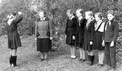 Attention (theirhistory) Tags: boy girl child kid school pupils students class group form