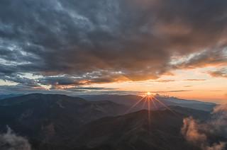 Sunset in Piatra Craiului Mountains