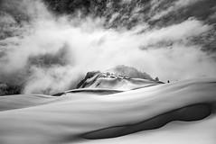 Snowscapes #4 (Jason Hummel Photography) Tags: xyz3881 snowscapes mountbaker blackandwhite monochrome prints snowslopes tablemountain bakerskiarea mountbakerskiarea clouds winter