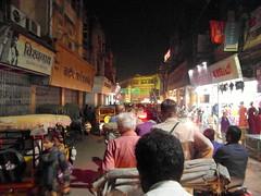 varanasi evening (2) (kexi) Tags: varanasi evening benares india asia people crowd traffic street many lights samsung wb690 february 2017 perspective night
