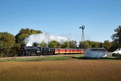 Augusta Morning (jterry618) Tags: 25thanniversaryexcursionthe legend frank sandbergovert 484 alcoschenectady1944 americanlocomotivecompany augusta chicagomilwaukeestpaulpacific friendsof261 milw261 milwaukeeroad minnesota railroadingheritageofmidwestamericarhma steamlocomotive sandbergovertcwminneapolisglencoe