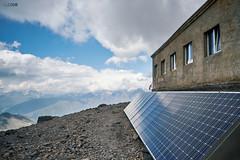 Solar power at Betlemi hut (kle1n) Tags: sky landscape mountain caucasus betlemi hut solarenergy solar power
