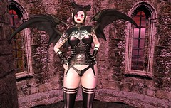 The Keeper Of The Castle (beccaprender) Tags: catwa catya bento maitreya lara cureless cerberuscrossing cx plastik realevilindustries realevil demon demoness hoodlemink suicidalunborn