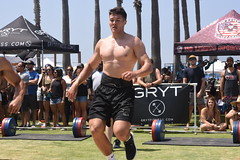 Back to The Bales (Chris Hunkeler) Tags: manmalealthleteshirtless sincamisa shorts legs hunk stud handsome muscular masculine pecs torso chest fit guapo macho