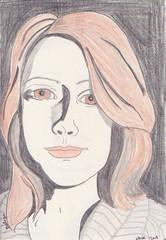 Béliza Mendes/Beliza-M (Hank V) Tags: moleskine juliakaysportraitparty jkpp crayon