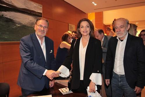 12.Ο συγγραφέας Costantino Salis με την Άντζελα Γκερέκου και τον Γιώργο Λιάνη.