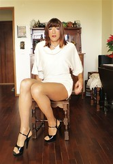 Karen (Karen Maris) Tags: tg tgirl tgurl karen legs heels sandals tranny trannie transvestite transsexual transgender pantyhose tights sheer crossdress crossdresser