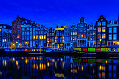 Amsterdam's Stunning Architecture (Hameed S) Tags: canals architecture urban reflection hdr relaxing holland dutch dusk river netherlands tourism tourist travel traditional tranqulity cityscape sunset blue mood cityatnight citylife simplicity boats goldenhour