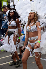 DSC_8176 Notting Hill Caribbean Carnival London Exotic Colourful White and Silver and Gold Costume with Ostrich Feather Headdress Girls Dancing Showgirl Performers Aug 27 2018 Stunning Ladies (photographer695) Tags: notting hill caribbean carnival london exotic colourful costume girls dancing showgirl performers aug 27 2018 stunning ladies white silver gold with ostrich feather headdress