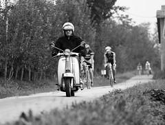 La classica di Pinerolo (sonny.86) Tags: giostorino gios 70200 canon7d 7d eos canon blackwhite bianconero biancoenero bw pianura mezzid'epoca bici laclassicadipinerolo laclassica ciclismod'epoca d'epoca ciclismo lambretta pinerolo