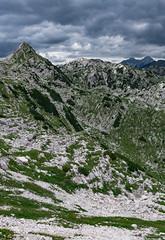 Bogatin, Lanževica and Jalovec (happy.apple) Tags: ukanc radovljica slovenia si slovenija julijskealpe julianalps alps mountains summer cloudy bogatin lanževica jalovec geotagged