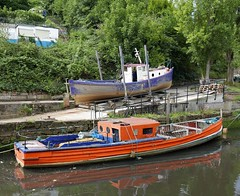 boatyard (Mr Ian Lamb 2) Tags: boats boatyard ouseburn northeast tyneside river craft water newcastle urban town city
