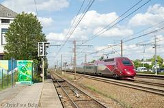 Thalys 4307 Ruisbroek (TreinFoto België) Tags: hsl 1 hst thalys 4307 9458 parisnord brusselzuid ruisbroek lijn 96 belgium belgië belgien belgique