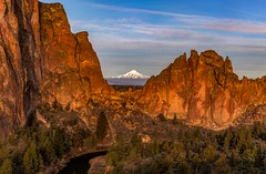 Mt Jefferson view from Smith Rock (Cole Chase Photography) Tags: smithrockstatepark highdesert oregon pacificnorthwest bendoregon sunrise morning