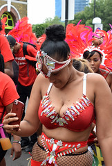 DSC_6939a Notting Hill Caribbean Carnival London Exotic Colourful Red and Silver Costume Girls Dancing Showgirl Performers Aug 27 2018 Stunning Ladies Décolleté Low Neckline Beautiful Breasts Cleavage Selfie Photo (photographer695) Tags: notting hill caribbean carnival london exotic colourful costume girls dancing showgirl performers aug 27 2018 stunning ladies red silver décolleté low neckline beautiful breasts cleavage selfie photo