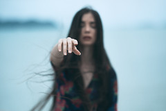effacée (@_polod_) Tags: outdoor portrait portraiture faded film look blur woman mood sadness loneliness alone solo hand shallow depth