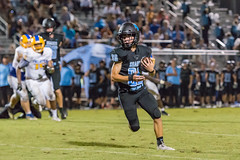 """PVHS v. Palatka-219 (mark.calvin33) Tags: football field sport ball """"high school"""" """"ponte vedra high pvhs block tackle rush run pass catch receiver blocker """"running quarterback fumble completion reception hike pitch snap """"friday night lights"""" fans stands kick """"end zone"""" """"nikon 2018 win athletics athletes """"night photography"""" """"sharks football"""" back d7100"""