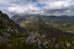 Walk this way (trojanhorse1956) Tags: tryfan snowdonia wales carneddau valley ogwen nikon clouds