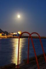 (StianAndre) Tags: fiskemottak stige molo fiskevær hav kai måneskinn måne fish boat bay dock nighttime night canoneos760d canon ballstad lofotenisland lofoten sea moonlight moon