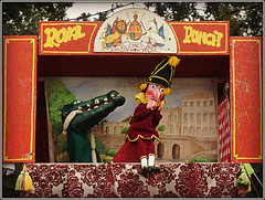Sausage theft. (Jason 87030) Tags: puppet puch judy osborne house show fun entertainment sausages meat string glove crocodile snap crackle pop amusing laughter iow curtains pork hat nose teeth action story