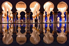 Symmetry (Sanjiban2011) Tags: uae abudhabi sheikhzayedgrandmosque symmetry reflection waterreflection architecture arrangements array pattern arches nightphotography night nightscape travel traveldestination touristattraction nikon d750 tamron tamron1530