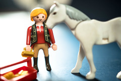 Reiter bereitet sich vor sein Pferd zu striegeln (marcoverch) Tags: toys brush playmobile preparing horse riding animal reiter bereitet pferd striegeln people menschen man mann toy spielzeug noperson keineperson figurine adult erwachsene child kind competition wettbewerb one ein mammal säugetier woman frau doll puppe miniature miniatur girl mädchen christmas weihnachten sketch skizzieren fun spas lego game spiel art kunst macromondays metal avatar leica railroad japan flickr maitreya shop