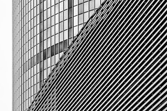 Lines, Lines, Lines, ... (Leipzig_trifft_Wien) Tags: rotterdam provinzsüdholland niederlande nl structure pattern lines geometry minimalism minimalistic architecture modern horizontal vertical diagonal blackandwhite bnw black white grey contemporary building urban city