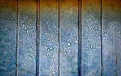 Patterned (StephenReed) Tags: patterned metal wall weathered rust seams blue bostwick georgia nikond3300 stephenreed