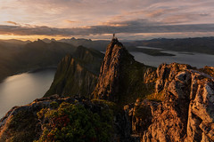 The King of the World (Andrew G Robertson) Tags: senja norway norge sunrise husfjellet