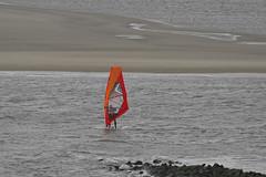 Storm surfing in the laguna of Borkum beach (Manfred_H.) Tags: sports windsurfing kitesurfing storm laguna sandbank winter wintertime
